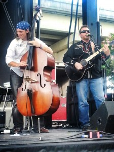 Philip Nelson and Mitch V opening up for Robert Earl Keen at Kerrville's 4th on the River festival 2013
