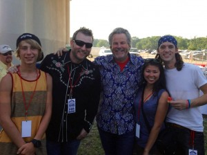 Back stage with Robert Earl Keen and Mitch V. Kerrville's 4th on the River Festival 2013